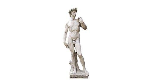 David 116 cm H, Skulptur aus Steinguss, Figur, Mann (David-statue)