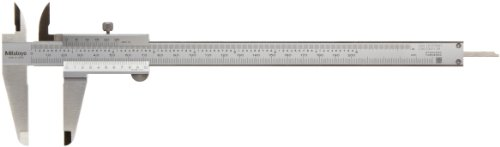 Mitutoyo 530-118 Standard-Nonius Messschieber, 0-200 mm