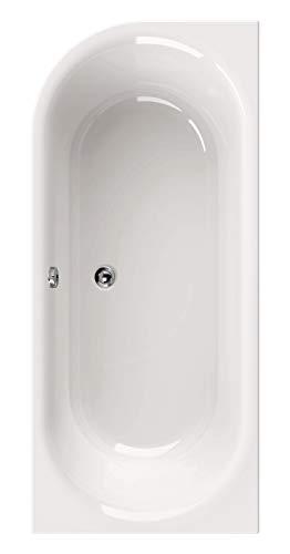 Calmwaters - Lavella - Rechteckige Duo-Badewanne aus weißem Acryl für zwei Personen für Links in 180 x 80 cm - 02SL2971