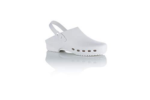 Safe Way OP-Clogs OP-Schuhe medizinische Arbeitsschuhe autoklavierbar Fersenriemen (42-43)