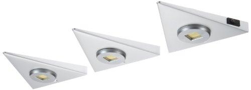 IKM Dreieckleuchten 3-er Set Delta-flach LED Alu (mit Zentralschalter) 59342320/G