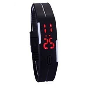 AMAZING-DEAL-Digital-Black-Mens-And-Womens-kids-LED-Watch