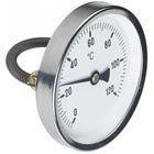 Rohranlegethermometer 0-120°C, D=63mm mit Spannfeder, für Rohre 3/8