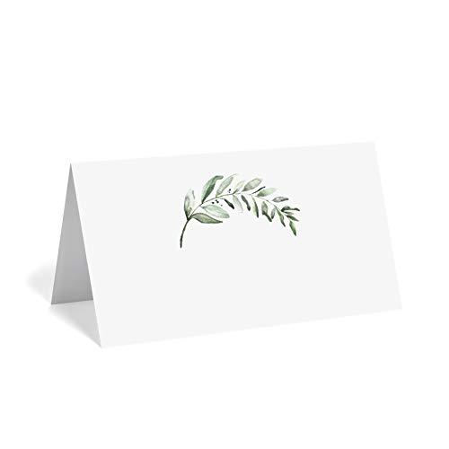 verdure cartons de table pour mariage ou fête, cartes de placement d'assise pour tableaux, Lot de 50, Marquées pour pliage facile-à partir de papier Bliss Boutique