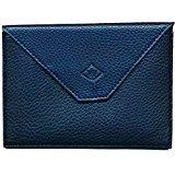 Astuccio porta tessere, con patta, in pelle, per documenti auto e patente, Colore: Grigio, Marine (Blu) - rabat-marine