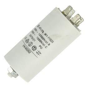 Fixapart 11025 Anlaufkondensator Betriebskondensator 25uF 25µF mit STECKER (Motorkondensator) -