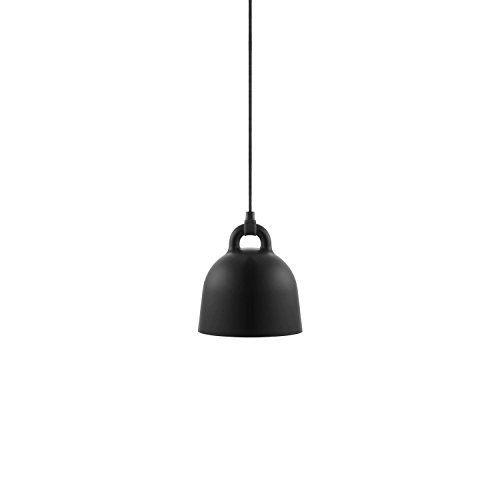 Normann Copenhagen - Bell Hängeleuchte - schwarz - Ø 22 cm - Andreas Lund & Jacob Rudbeck - Design - Deckenleuchte - Pendelleuchte - Wohnzimmerleuchte (Pendelleuchte Bell)