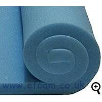"Efoam High density firm upholstery foam 60""x20""x2"""