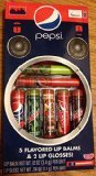 Pepsi 5 Flavored Lip Balms & 2 Lip Gloss...