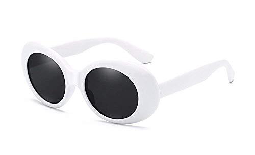 ATezi retro - einfluss schutzbrille frauen brille oval kühne mod dick gerahmt sonnenbrille weiß für outdoor ()