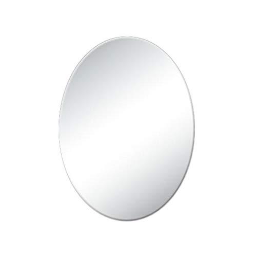 Ovaler Badspiegel im europäischen Stil, Frameless Bathroom Waterproof Wandspiegel Schminktisch Bekleidungsgeschäft Friseursalon Dekorativer Spiegel Versuchen Sie es mit einem Kleiderspiegel,45*60CM