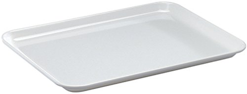 2 x Thekenplatten / Auslegeschale, Melamin weiß | Gr. 27 cm x 21 cm