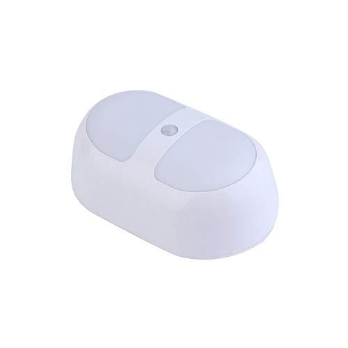 1 stück kreative design 10 led nachtlicht motion sensing batterieleistung menschlichen sensor lampe new home schlafzimmer licht weiß-weiß - Motion-sensing-licht Leuchte