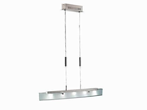 LED Pendelleuchte SHINE-LED, dimmbar & höhenverstellbar, Glasblende teilsatiniert, Fischer Leuchten 13445