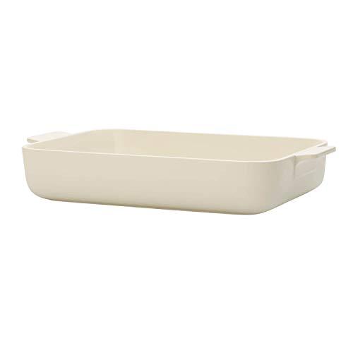 Villeroy & Boch Clever Cooking Plat à four rectangulaire, 34 x 24 cm, Porcelaine Premium, Blanc