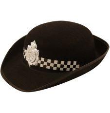 Erwachsene Frauen Party Wear Fancy Kleid Kostüm Halloween Police Filz schwarz hat (Kostüme Für Frauen Cop)