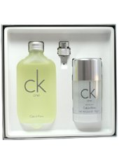 Calvin Klein CK One Geschenkset Unisex, Eau de Toilette, vaporisateur / spray 100 ml, deo stick 75 ml , 1 Set