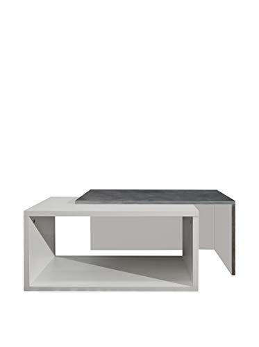 Symbiosis 2005A0600X00 Table Basse Bois Noir/Béton 70 x 35 x 40 cm