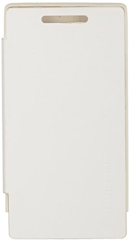 iCandy Flip Cover for Karbonn A6+ - White  available at amazon for Rs.99
