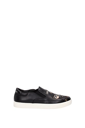 À enfiler Dolce&Gabbana  patch d&g family  Homme - Cuir (CS1365AG310) EU Noir