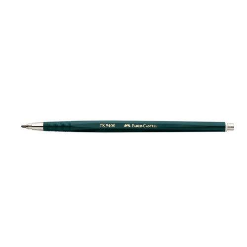 Faber-Castell 139420 - Fallminenstift TK 9400, Minenstärke: 2 mm, Härtegrad: HB, Schaftfarbe: grün