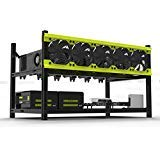 Miidii Veddha V3D Miner Frame Open Air Mining Rig Case For 6 GPU Delux Ethereum Zcash (The Fans Are Not Included)