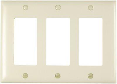 Pass & Seymour TP263LACC12 Light Almond 3-Opening Nylon Wall Plate - Quantity 12 by Pass & - Wall Almond Light Plate