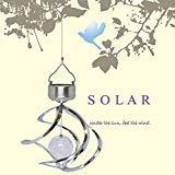 Solar Powered LED Windchimes Gira con el viento al aire libre jardín Patio
