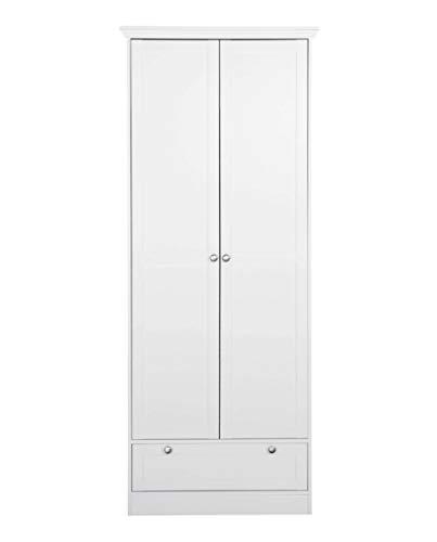 Avanti trendstore - lando - armadio multiuso per l'ingresso, con 2 ante a telaio ed 1 cassetto a telaio, in legno laminato di colore bianco, dimensioni: lap 80x200x39 cm