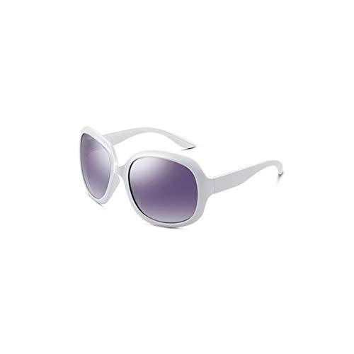 RJYJ Klassische Mode Damen Polarized Sonnenbrillen, PC-Rahmenmaterial TAC Objektiv Sonnenbrillen Nettogewicht Ultraleicht 30 Gramm (Color : White)
