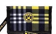 Geldbörse kariert Borussia Dortmund Geldbeutel, Geldtasche, Portemonnaie BVB