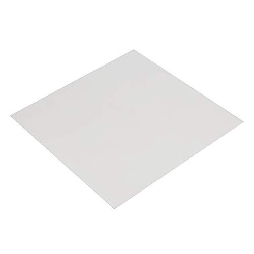 POM-Platte, 2 x 300 x 300 mm, weiße Polyoxymethylen-Platte, Platte aus technischem Kunststoff (Kunststoff-platten Bulk)