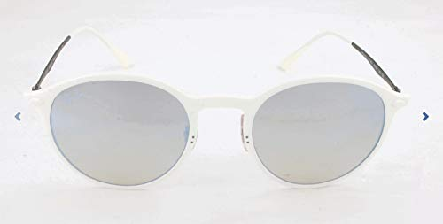 Ray-Ban RAYBAN Unisex-Erwachsene Sonnenbrille 4224, White/Browngradientmirrorsilver, 49