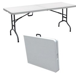 Palm Springs Folding Portable Camping / Party Table 6 Ft White produced by Palm Springs - quick delivery from UK.