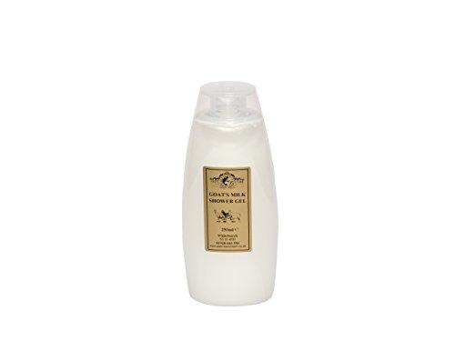 Milch Feuchtigkeitsspendende Duschgel (Ziegenmilch Duschgel 250ml für Psoriasis Ekzem Trockene Haut Dermatitis Rosacea empfindliche Haut. Hergestellt in Großbritannien von Elegance Natural Skin Care)