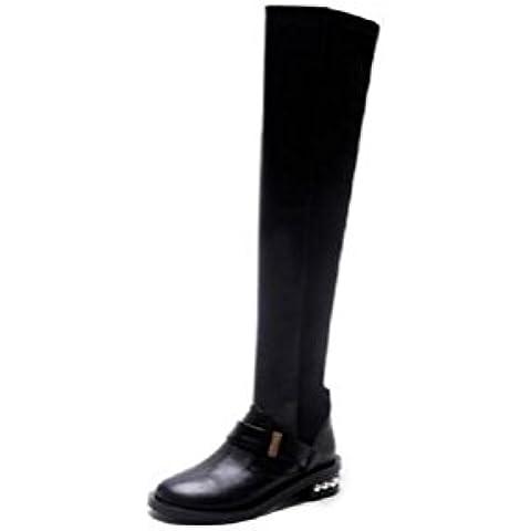 YYH Coscia alto sopra gli stivali al ginocchio tubo elastico
