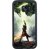 S7 Edge TPU Protective Case with Dragon Age 3 Inquisition Into The Darkness The Phantoms Android Wallpaper Black for Samsung Galaxy S7 Edge Black TPU