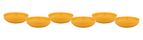 Borosil Melamine Round Kiddi Bowl Set of 6, Yellow  available at amazon for Rs.299