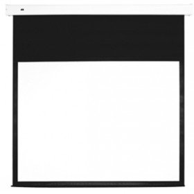 Motorized Projection Screen (MULTIBRACKETS Leinwand motorisiert 4:3,120 Z,240x180cm,Diagonale 305cm, Weiss Rahmen schwarz,Inkl. Steuerung und FB, Gain:1,0)