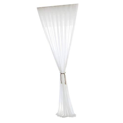 SM SunniMix Transparent Dekoschal Kräuselband Schiebegardine Gardine Vorhang Wohnzimmmer - Weiß-140x240cm