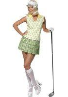 Smiffys Gone Golfkostüm mit Visier, Tank-Top, Faltenrock und Handschuh, Größe S