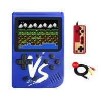 KOBWA Handheld Spielkonsole, 3 Zoll 500 Retro-Spielen Handheld Konsole FC TV-Ausgang Video Spieler Handspielkonsole, Mini Handheld-spielkonsole, Geburtstagsgeschenk für Kinder, Blau