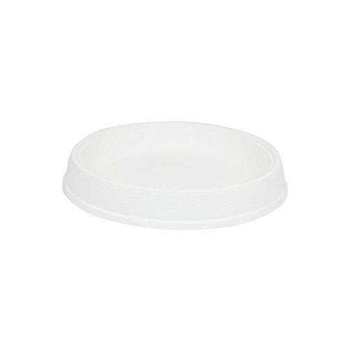 Soucoupe support Massive en plastique de diam. 33 cm, en blanc