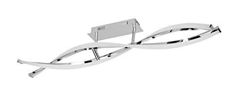 WOFI 9152.02.01.6000 A Deckenleuchte, Metall, 25 W, Integriert, chrom, 101 x 16.5 x 15 cm