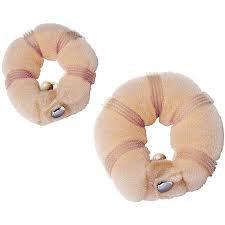 Boolavard®, 2elastici per capelli a forma di ciambella, per capelli biondi, ad anello, formati: 1piccolo e 1grande