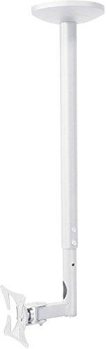myWall HL4-1WL Höhenverstellbarer Deckenhalter für Flachbildschirme, 10-30 Zoll (25-76cm), bis 30Kg weiß