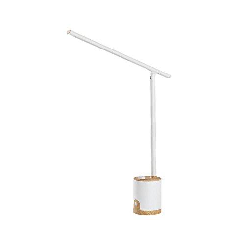 4W LED Schreibtischleuchte Metall Tageslichtlampe Tischleuchte LED Stufenloses Dimmen*3 Farbtemperaturen Geeignet mit USB-Ladeanschluss für Nachtlichter Lesen Lernen Arbeiten Schlafzimmer Wohnzimmer , pearl white , 560*100*100