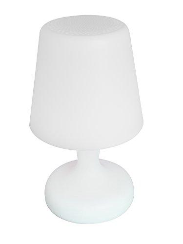 Decotech - Lámpara Led inalámbrica con altavoz Bluetooth, cambio de color, uso exterior posible (IP44), batería recargable, mando a distancia incuido (Lexibook BTL035)
