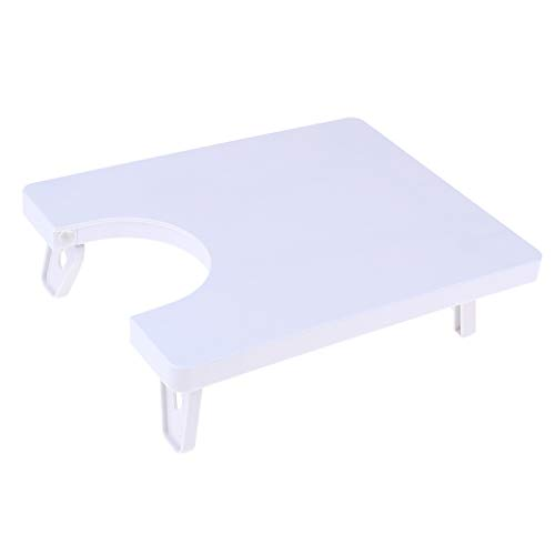Baoblaze Table De Rallonge en Plastique De Table Portable pour Jiayi 508 Blanc