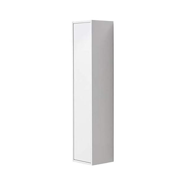 Générique Girona Colonne de Salle de Bain l 25 cm - Blanc laqué Brillant